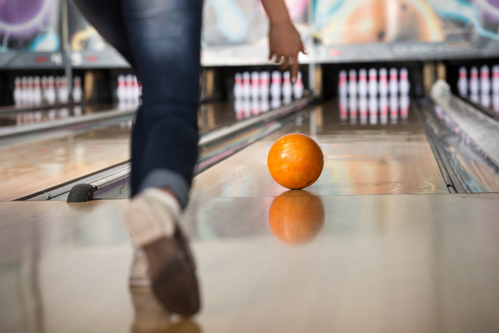 Playing on a bowling alley