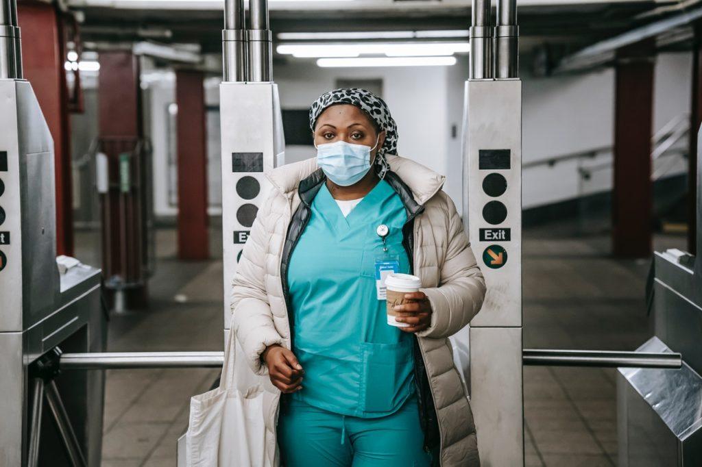 woman at the subway